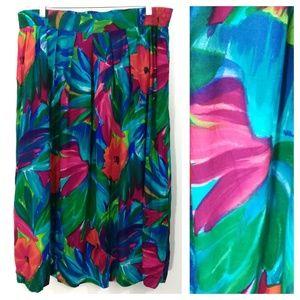 Vintage Maggie McNaughton Midi Skirt Plus Size 24W
